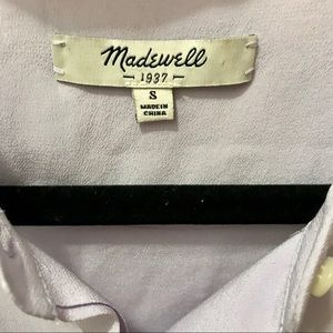 Madewell Tops - Madewell lavender button down tank